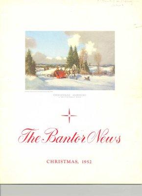 """<b>A copy of  """"The Bantor News"""" Christmas 1952 edition<b>"""
