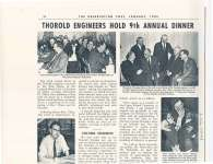 """Article entitled """"Thorold engineers hold 9th annual dinner"""""""