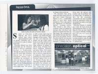Short article regarding Precision Optical in the Northumberland Mall.
