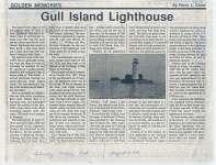 "Article entitled ""Gull Island Lighthouse"""