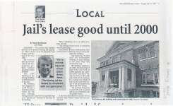 """Article entitled """"Jail's lease good until 2000"""" by Valerie MacDonald"""