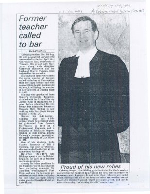 "<b>Article entitled ""Former teacher called to bar""<b>"