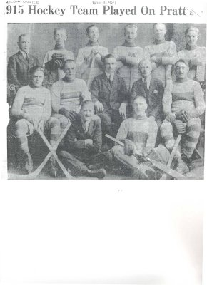 <b>1915 Hockey Team Played On Pratt 1915<b>