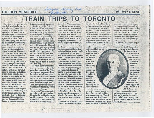 Train Trips To Toronto