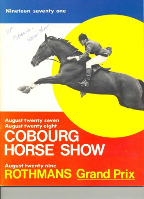 <b>Program for the 1971 Cobourg Horse Show.<b>