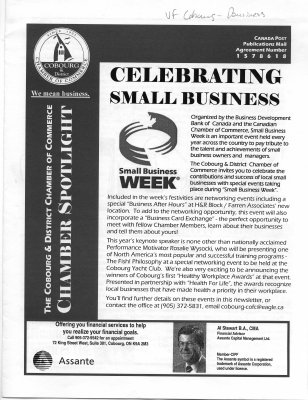 The Cobourg and District Chambers of Commerce Chamber spotlight October –November 2003