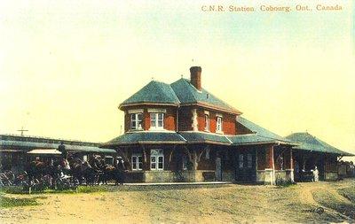 <b>Cobourg railroad station <b>