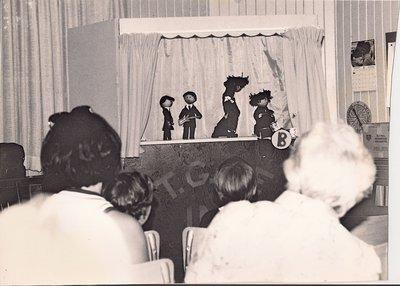 <b>Photograph of puppet show<b>
