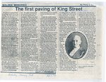 The first paving of King Street