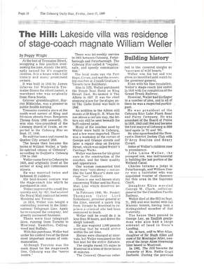 The Hill: Lakeside villa was residence of stage-coach magnate William Weller