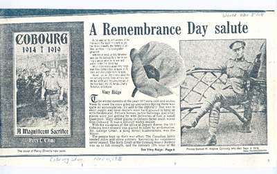 <b>A Remembrance Day Salute<b>