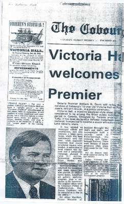 Victoria Hall Welcomes Premier