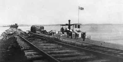 <b>Terminus of the Cobourg & Peterborough Railroad at Harwood,Ontario (Rice Lake) - c. 1865 <b>