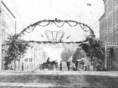 Archway for Prince of Wales visit, 1860