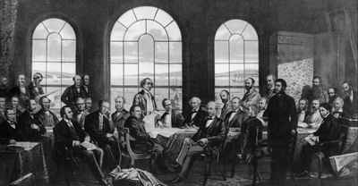 <b>Fathers of Confederation painting - c.1900<b>