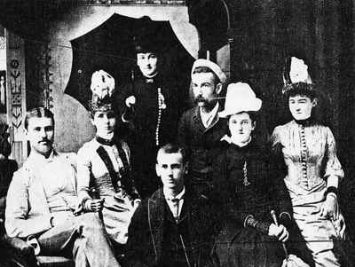 <b>Donly and Kerr family members - 1870<b>
