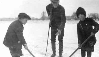 Hockey at Mud Lake