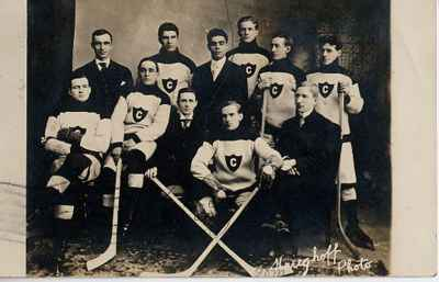 Old Hockey Postcard