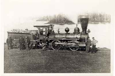 <b> Cobourg and Peterborough Railway Locomotive - 1870 <b>