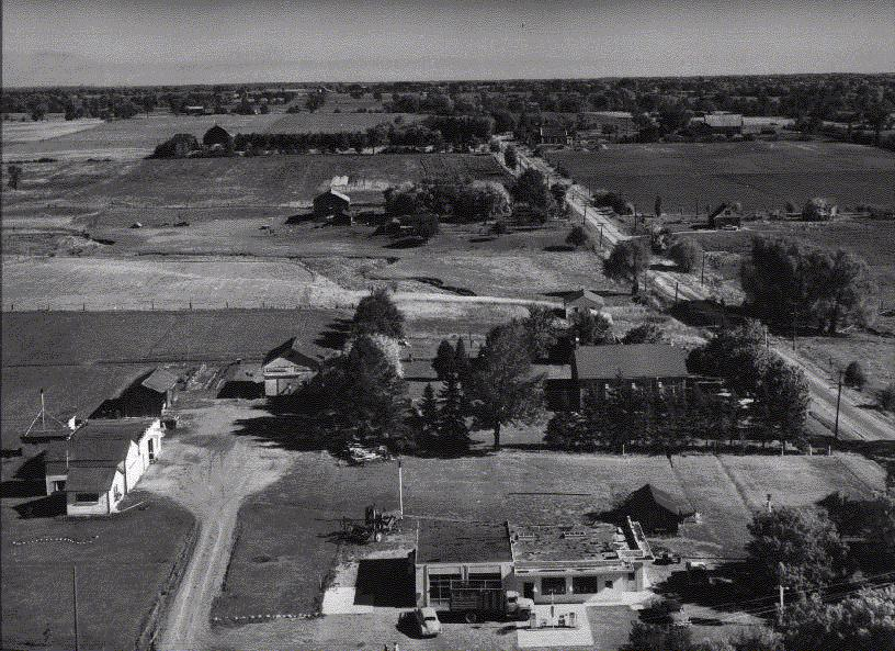 Aerial Photograph of Hornby, 1957