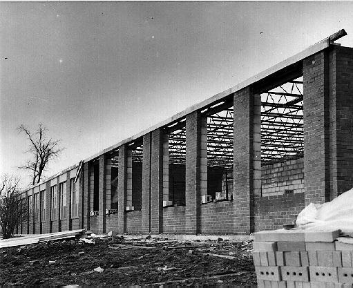 Construction at Stewarttown Senior Public School, 1965