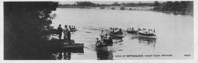 Postcard of Nottawasaga River 1910