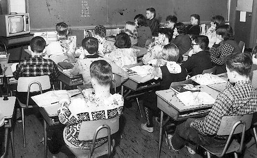 Grade 8 class from Park Public School, 1966