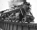 Steam Engine cross the Iron Bridge