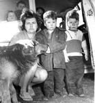 Lois Faulkner with Rescued Twins