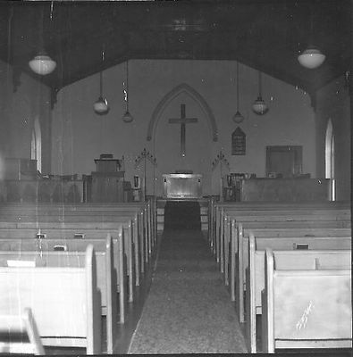 The sanctuary of Hornby United Church