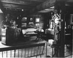 Interior of the barn housing Marie Beaumont Antiques.