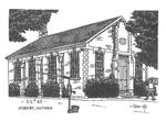 Drawing of the Brick Schoolhouse in Hornby