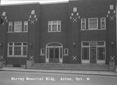 The Murray Memorial Building on Mill Street, Acton (built as the YMCA).