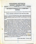 Esquesing Historical Society Newsletter October 1991