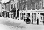 Winter scene along Main Street