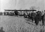 Aeroplane on James Moore farm, 1917