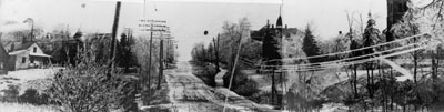 Panoramic photo with Guelph Street at centre 1913