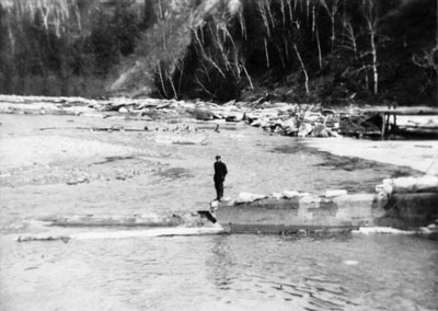 Remains of Glen Williams Dam about 1913.