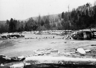 View of the Credit River at Glen Williams about 1913