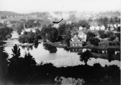 Summer view of the village c1940