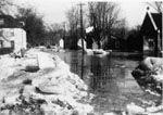 Main Street looking north during 1965 flood