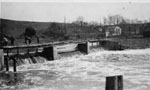 Spring flood at the dam 1913