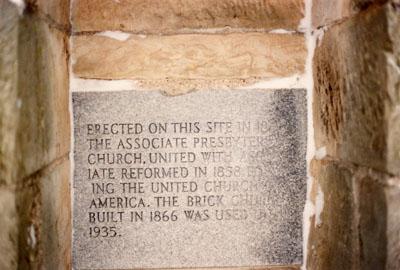 Presbyterian Commemorative Stone 1991