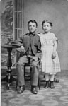 P.K. Dayfoot and his sister Jennie 1869