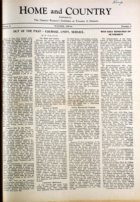 Home & Country Newsletters (Stoney Creek, ON), Winter 1945-46