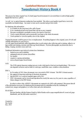 Castleford WI Tweedsmuir Community History, Volume 4