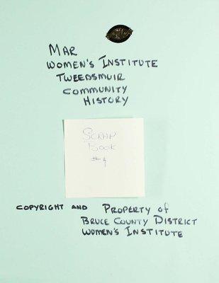 Mar WI Scrapbook, Volume 4