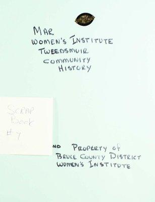 Mar WI Scrapbook, Volume 7