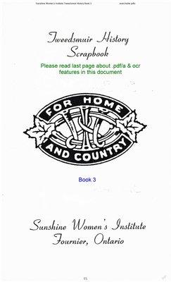 Sunshine WI Tweedsmuir Community History, Volume 3
