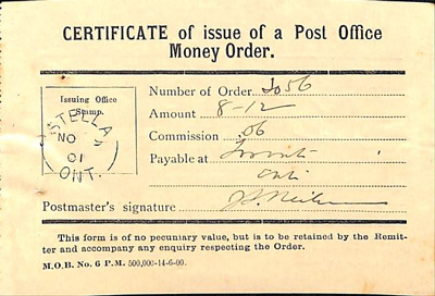 Amherst Island WI Account Book: 1918